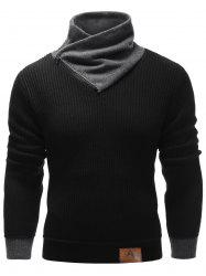 Zip Up High Neck Ribbed Pullover Sweater