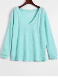 V Neck Long Sleeve Jumper