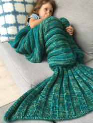 Thicken Soft Knitted Sleeping Bag Kids Wrap Mermaid Blanket