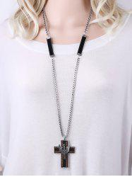Rhinestone Cross Wing Pendant Necklace