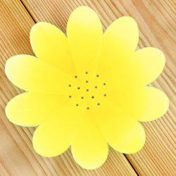 Flexible Petals Silicone Bathroom Soap Holder - YELLOW