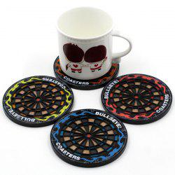 4 Pcs Antiskid Heat Insulation Darts Plate Shapes Cup Mat