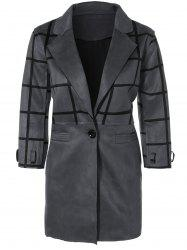 Grid One Breasted Coat
