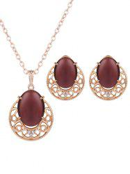 Bijoux Faux Opal strass Set -