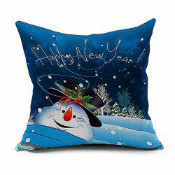 Snowman Cartoon Christmas Cushion Throw Pillow Case