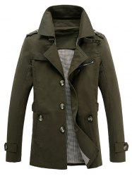 Pocket Epaulet Design Buckled Button Up Jacket -