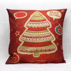 Home Decoration Christmas Tree Linen Cushion Pillow Case