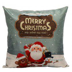 Merry Christmas Santa Cushion Home Office Pillow Cover