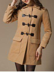 Preppy Style Hooded Woolen Duffle Coat