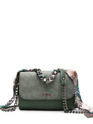 Chain Quilted Argyle Pattern Crossbody Bag
