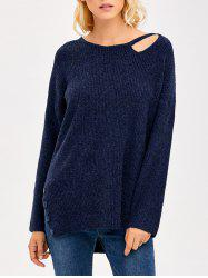 Cut Out Side Slit Sweater