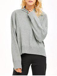 High Neck High Low Hem Knitwear