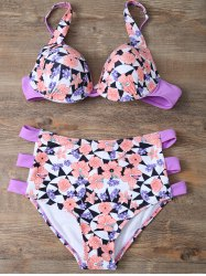 Cami Floral Cut Out Bikini Set