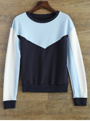 Color Block Fitting Sweatshirt
