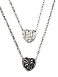 Rhinestone Heart Layered Pendant Necklace
