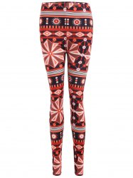 Ornate Geometric Print Stretchy Leggings