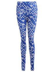 Geometric Print Stretchy Slimming Leggings