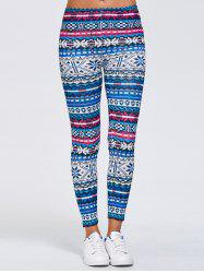 Tribal Print Skinny Running Leggings