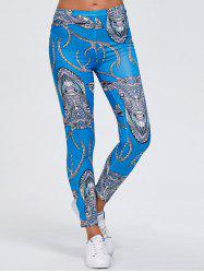 Abstract Animal Print Stretchy Leggings -