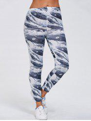 Abstract Print Stretchy Slimming Leggings -