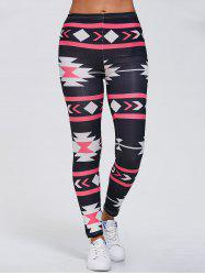 Geometric Stretchy Gym Running Leggings
