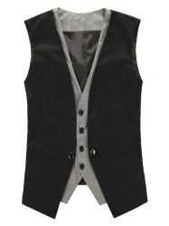 Faux Twinset V Neck Single Breasted Waistcoat -