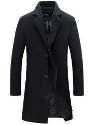 Longline Single Breasted Woolen Coat