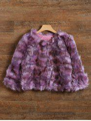 Dyed Short Shaggy  Faux Fur Coat -