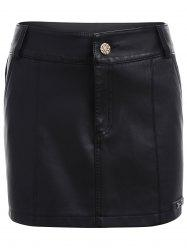 Faux Leather Skirted Shorts