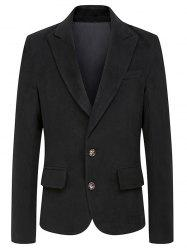 Turndown Collar Single Breasted Woolen Coat