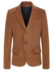 Turndown Collar Single Breasted Woolen Coat -