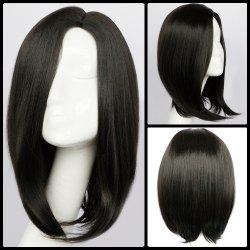 Medium Side Parting Straight Synthetic Wig