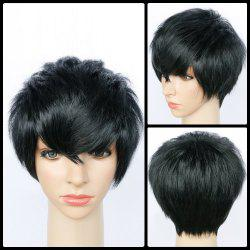 Spiffy Ultrashort Side Bang Straight Synthetic Wig