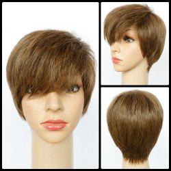 Spiffy Mixed Color Ultrashort Side Bang Straight Synthetic Wig