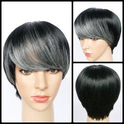 Spiffy Short Full Bang Straight Synthetic Wig -