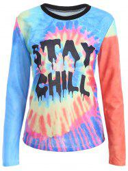 Stay Chill Tie-Dyed Funny T-Shirt -