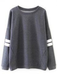 Sports Striped Loose Sweatshirt