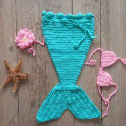 Newborn Knitted Mermaid Sleeping Bag Costume Set