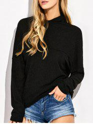 High Neck Batwing Sweater
