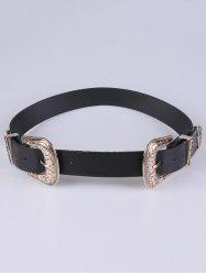 Adjustable Double Buckle Belt - GOLDEN