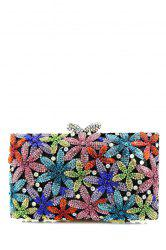 Diamante Flowers Evening Bag