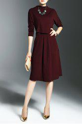 Self Tie Knit Popover Dress