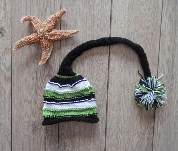 Fashion Handmade Knitted Baby Photography Prop Pom Hat