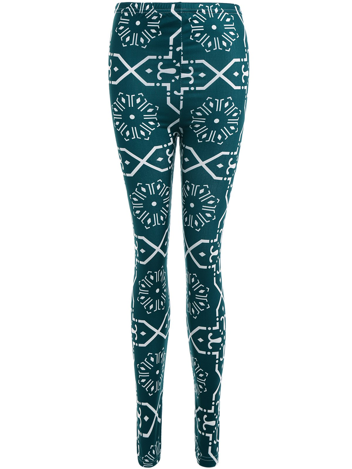Fancy Geometric Print Slimming Leggings