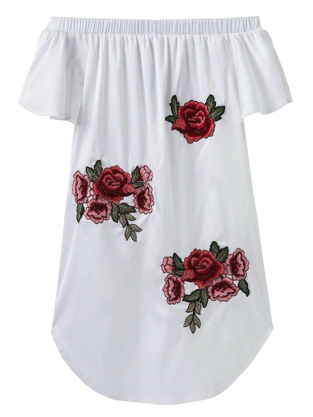Buy Floral Off The Shoulder Mini Dress