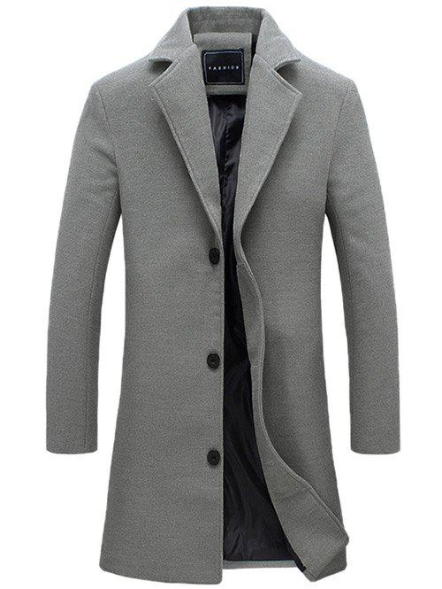Chic Longline Single Breasted Woolen Coat
