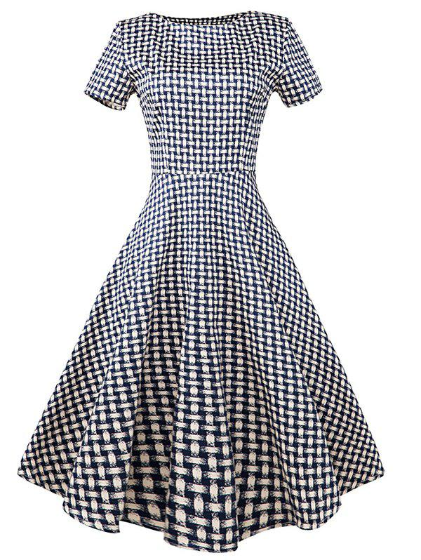 Shops Vintage Slim Fit Plaid Swing Dress