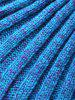 Warmth Knitting Fish Scales Mermaid Tail Style Blanket -