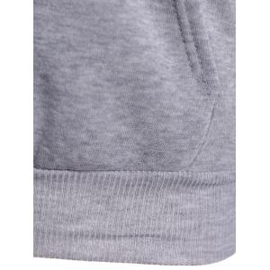 Letter Heart Print Pullover Hoodie - GRAY 2XL