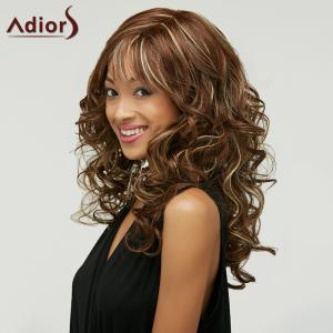 Outstanding Charming Long Deep Wavy Towheaded Mixed Color Women's Synthetic Wig -